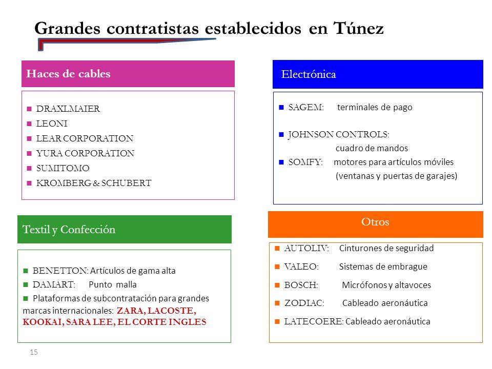Grandes contratistas establecidos en Túnez