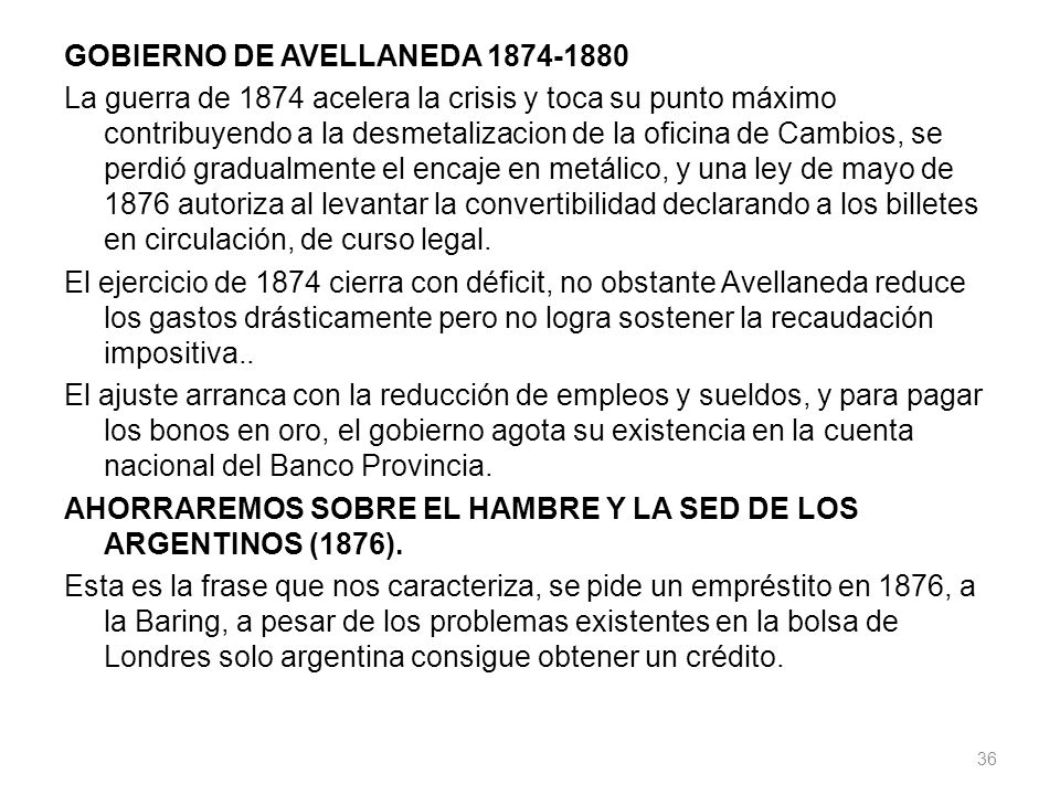 GOBIERNO DE AVELLANEDA 1874-1880