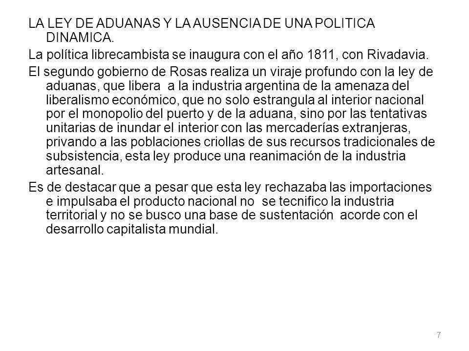 LA LEY DE ADUANAS Y LA AUSENCIA DE UNA POLITICA DINAMICA.