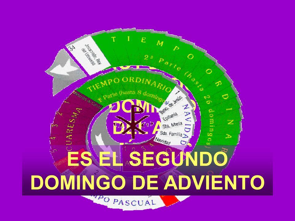ES EL SEGUNDO DOMINGO DE ADVIENTO