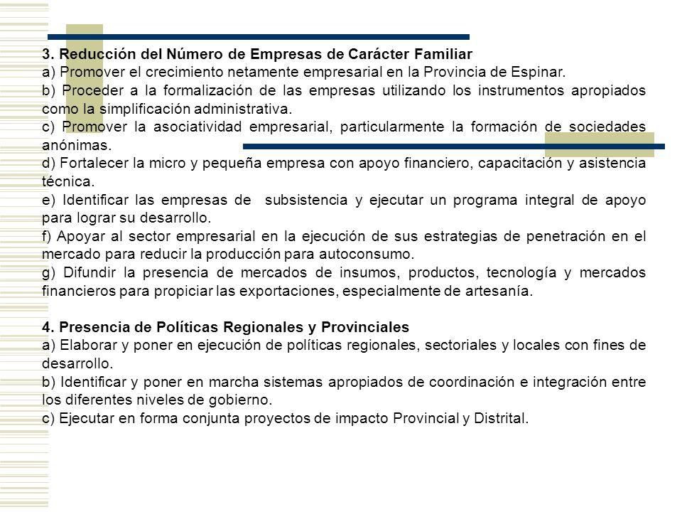 3. Reducción del Número de Empresas de Carácter Familiar