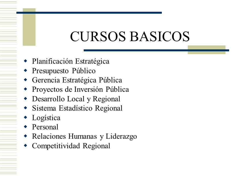 CURSOS BASICOS Planificación Estratégica Presupuesto Público