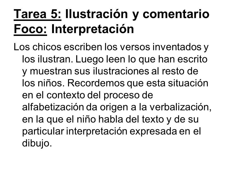 Tarea 5: Ilustración y comentario Foco: Interpretación