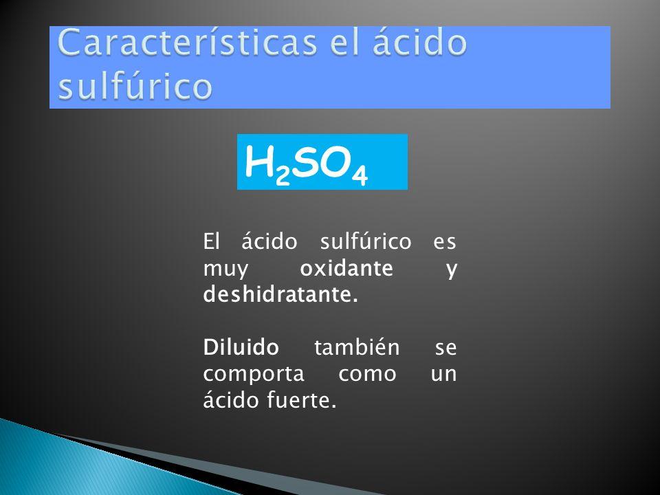 Características el ácido sulfúrico