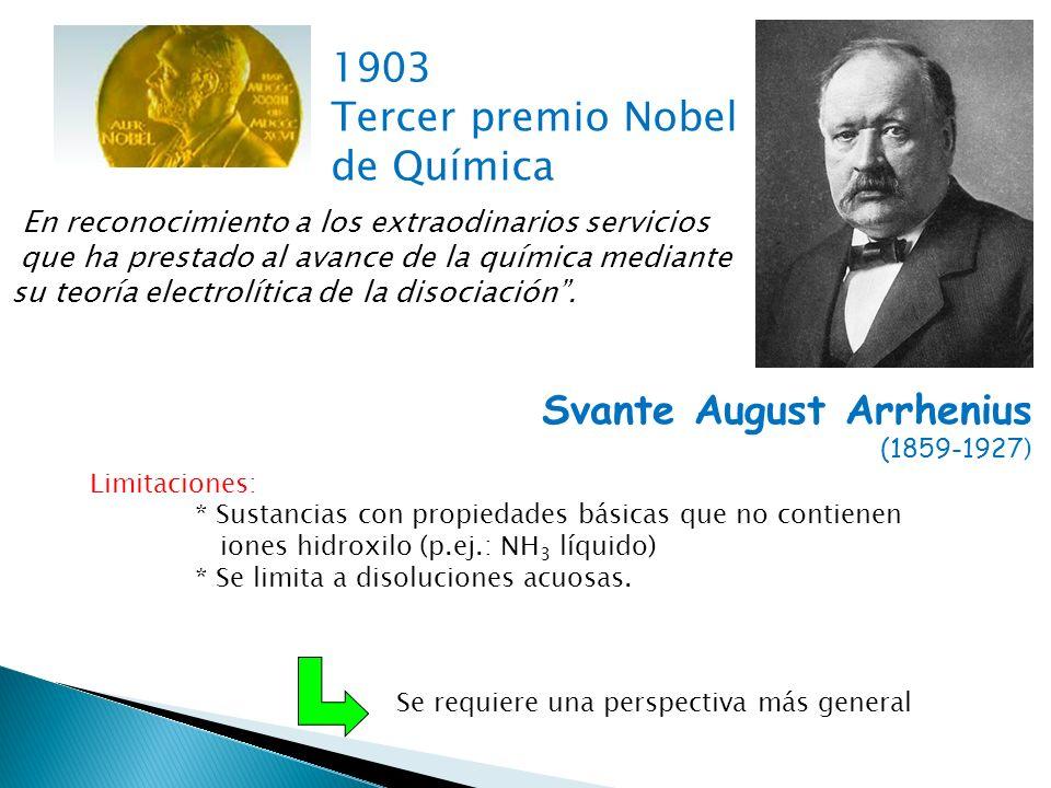 Tercer premio Nobel de Química