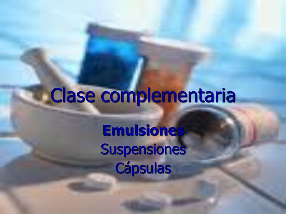 Emulsiones Suspensiones Cápsulas