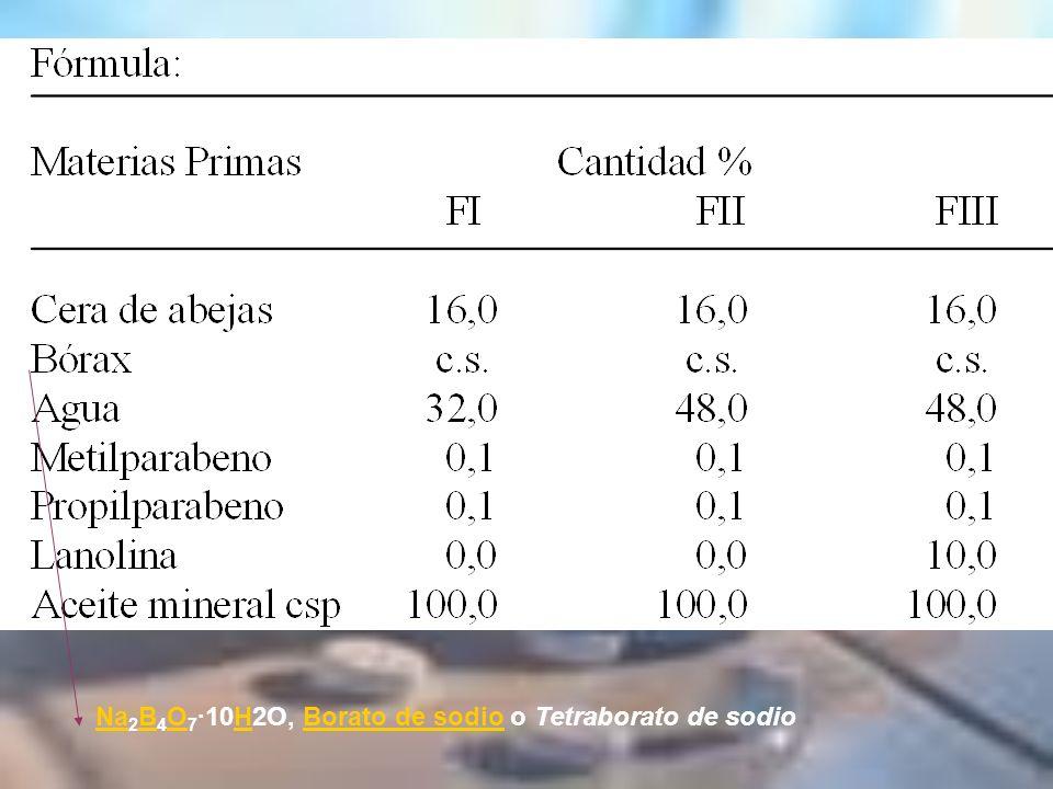 Na2B4O7·10H2O, Borato de sodio o Tetraborato de sodio