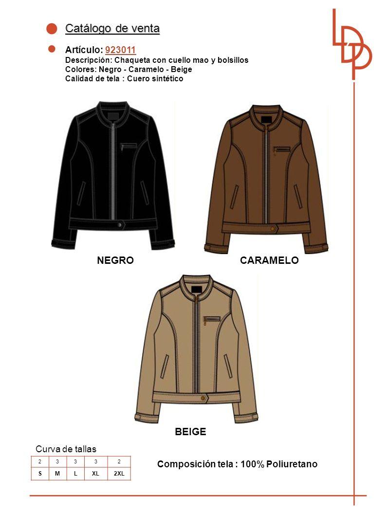Catálogo de venta NEGRO CARAMELO BEIGE Artículo: 923011