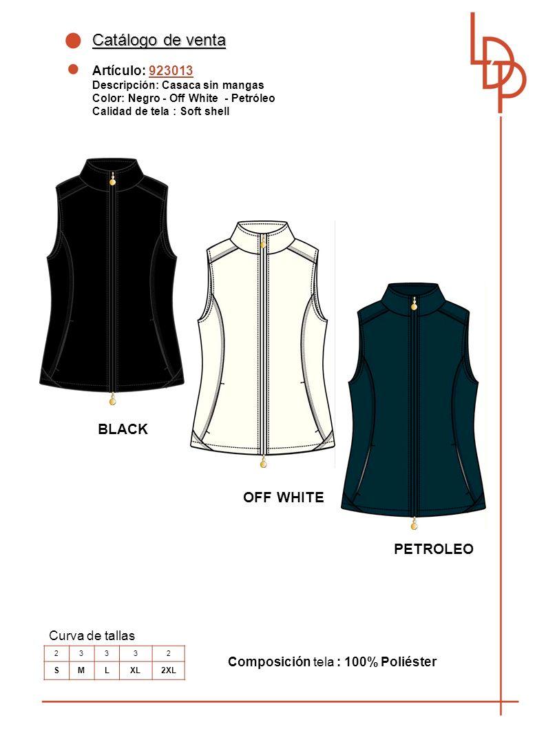 Catálogo de venta BLACK OFF WHITE PETROLEO Artículo: 923013