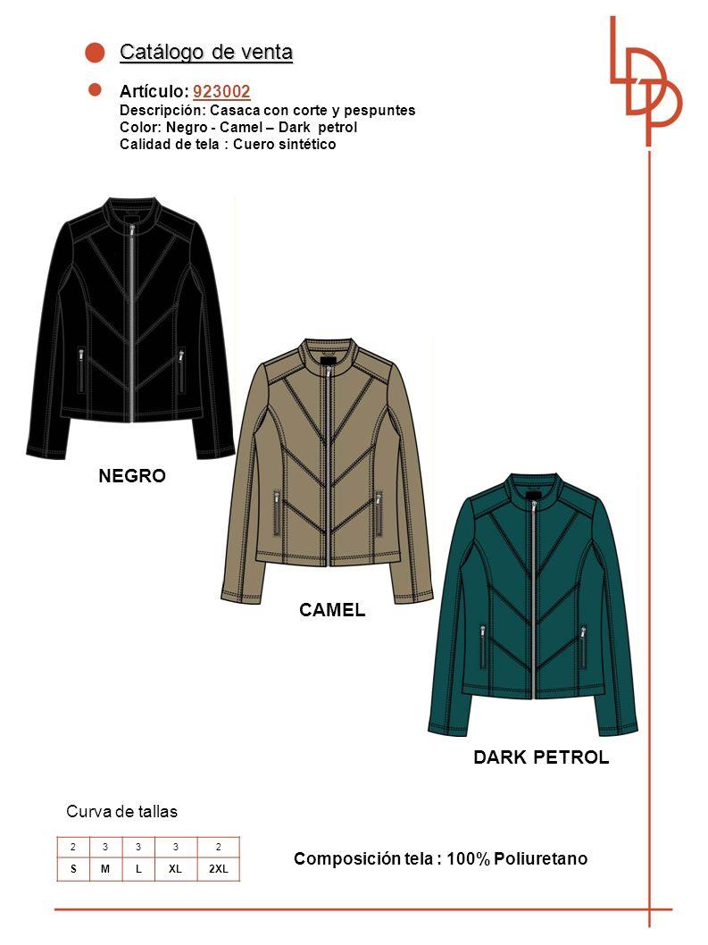 Catálogo de venta NEGRO CAMEL DARK PETROL Artículo: 923002