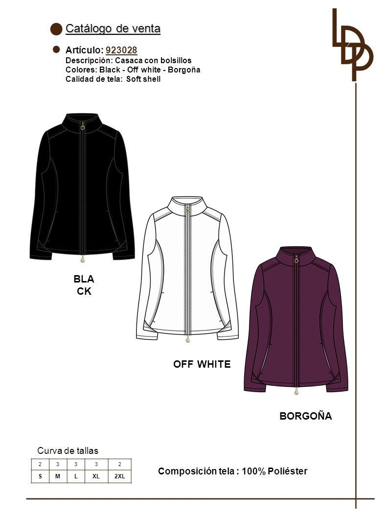 Catálogo de venta BLACK OFF WHITE BORGOÑA Artículo: 923028