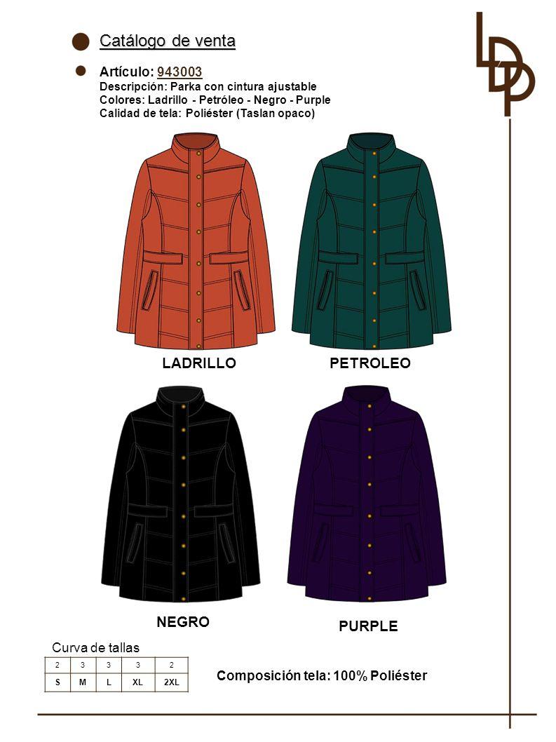 Catálogo de venta LADRILLO PETROLEO NEGRO PURPLE Artículo: 943003