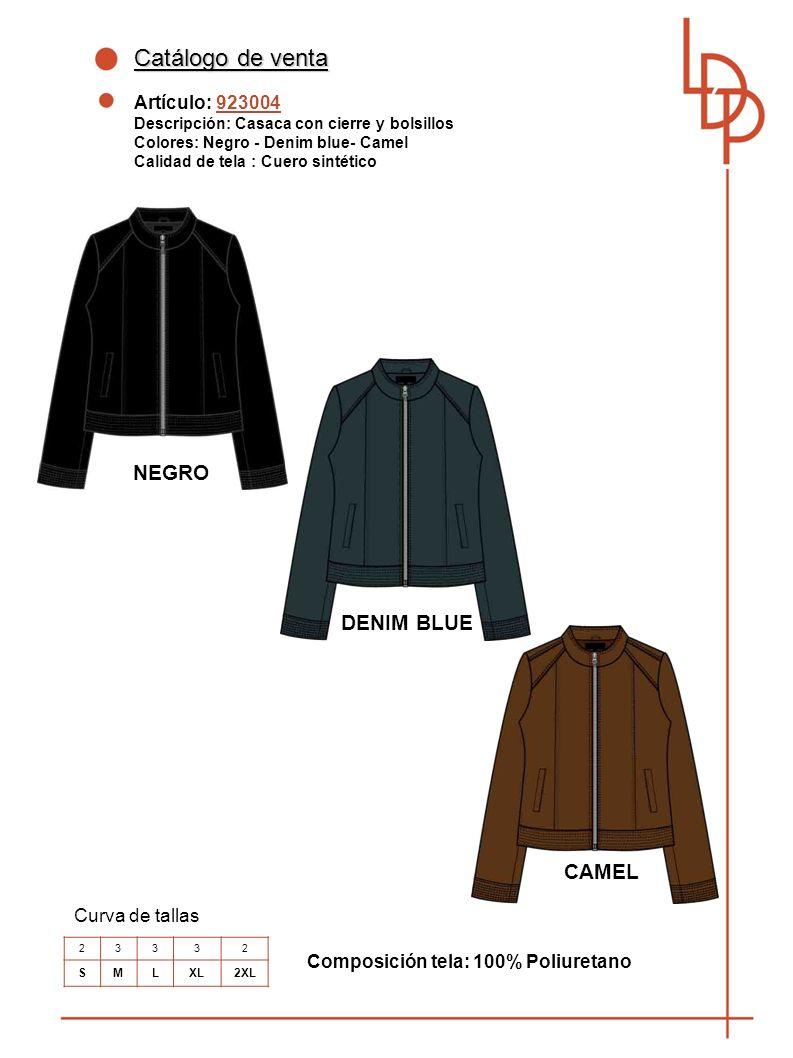 Catálogo de venta NEGRO DENIM BLUE CAMEL Artículo: 923004