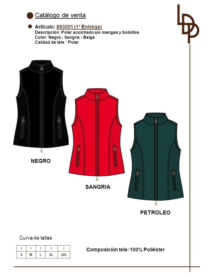 Catálogo de venta NEGRO SANGRIA PETROLEO Artículo: 993001 (1° Entrega)