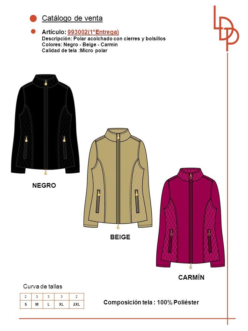 Catálogo de venta NEGRO BEIGE CARMÍN Artículo: 993002(1°Entrega)