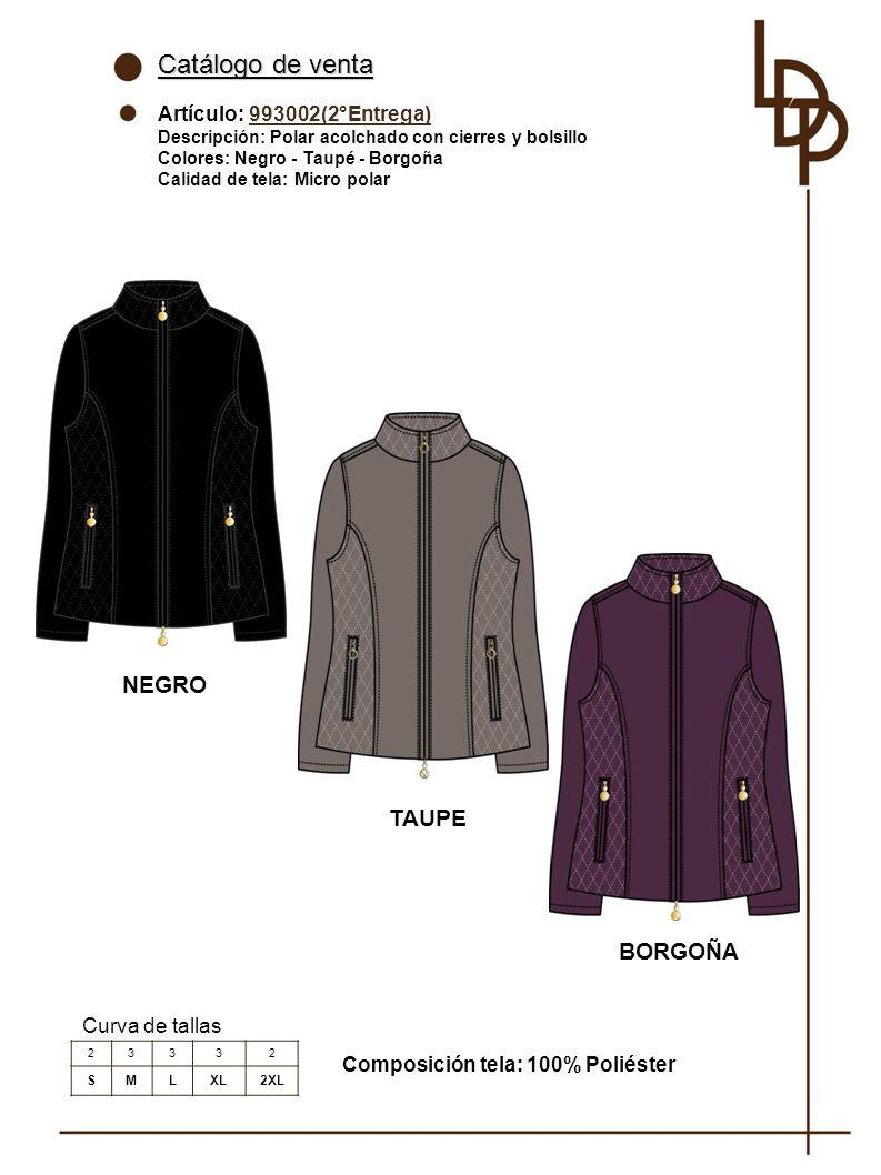 Catálogo de venta NEGRO TAUPE BORGOÑA Artículo: 993002(2°Entrega)