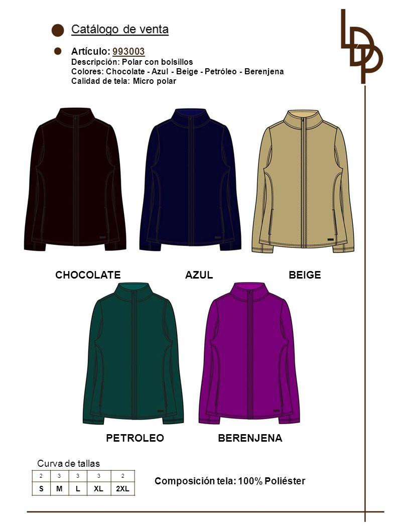 Catálogo de venta CHOCOLATE AZUL BEIGE PETROLEO BERENJENA