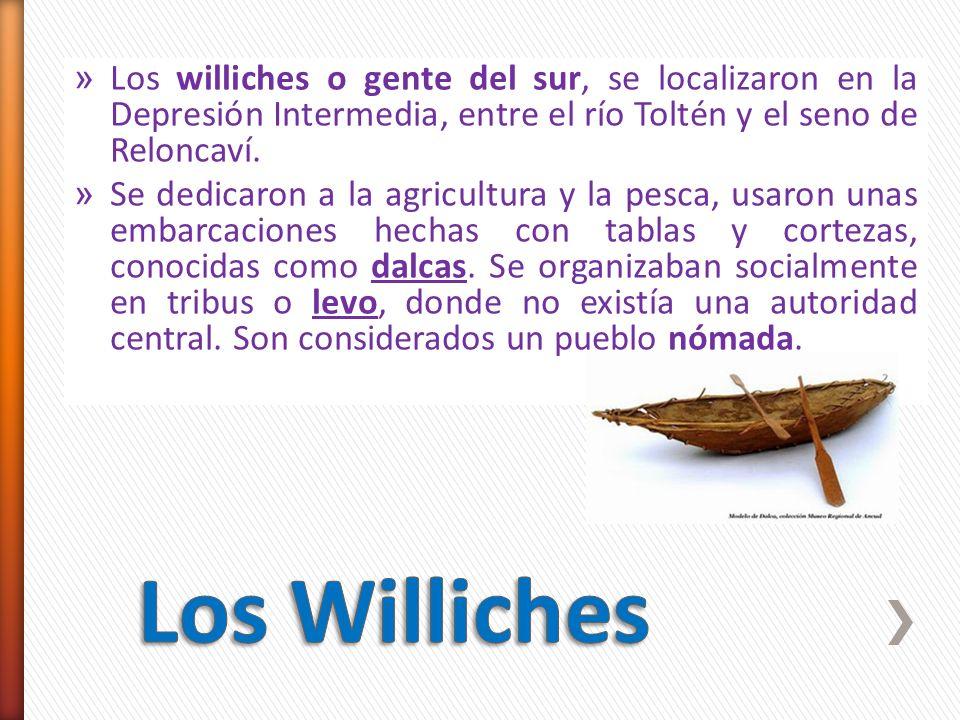 Los williches o gente del sur, se localizaron en la Depresión Intermedia, entre el río Toltén y el seno de Reloncaví.