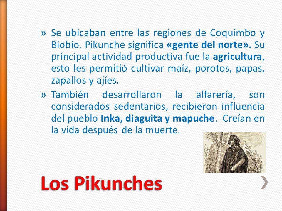 Se ubicaban entre las regiones de Coquimbo y Biobío