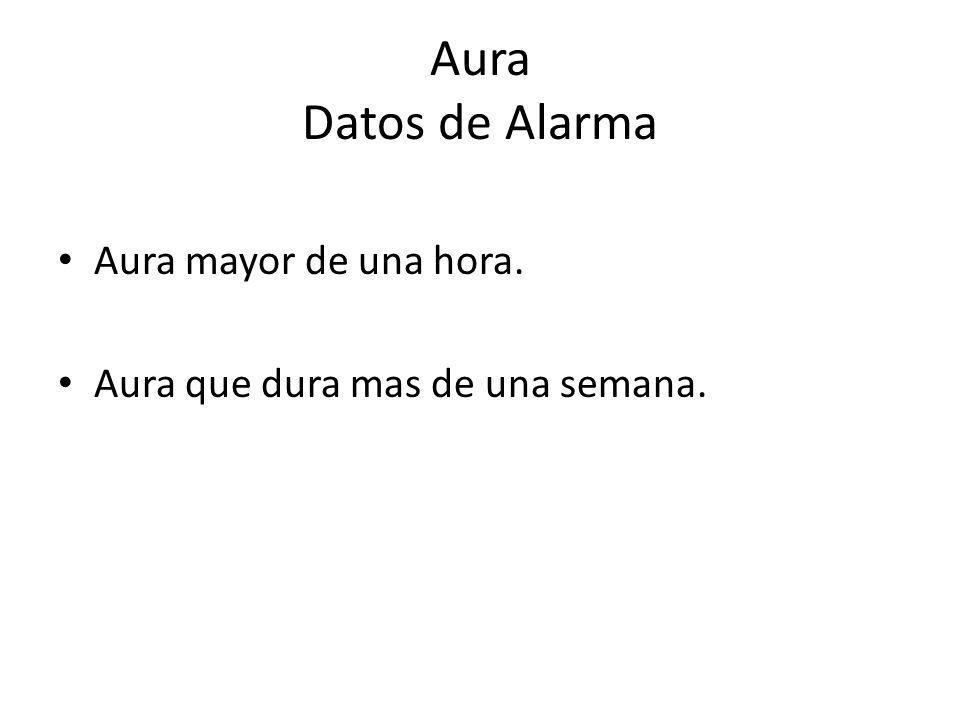 Aura Datos de Alarma Aura mayor de una hora.