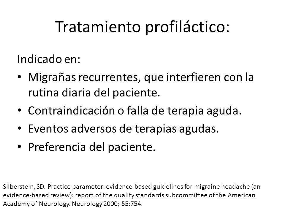 Tratamiento profiláctico: