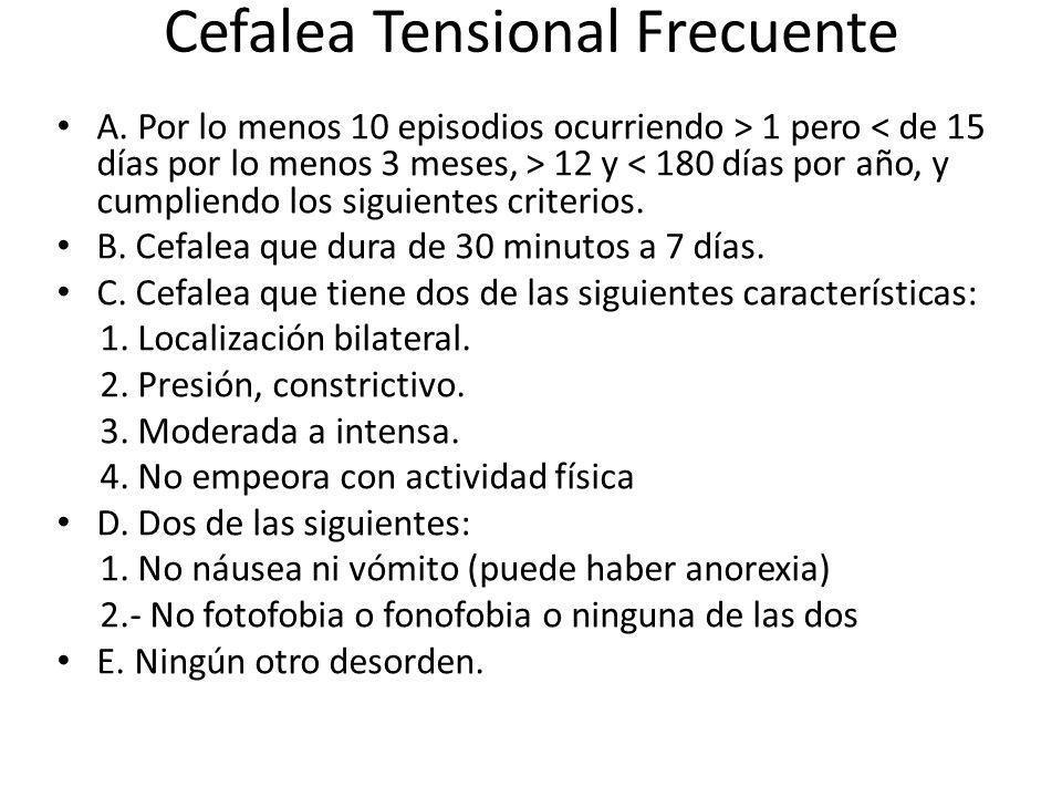 Cefalea Tensional Frecuente
