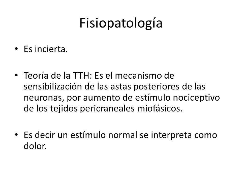 Fisiopatología Es incierta.