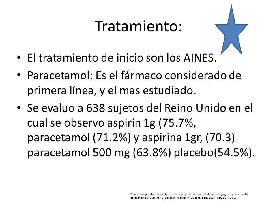 Tratamiento: El tratamiento de inicio son los AINES.