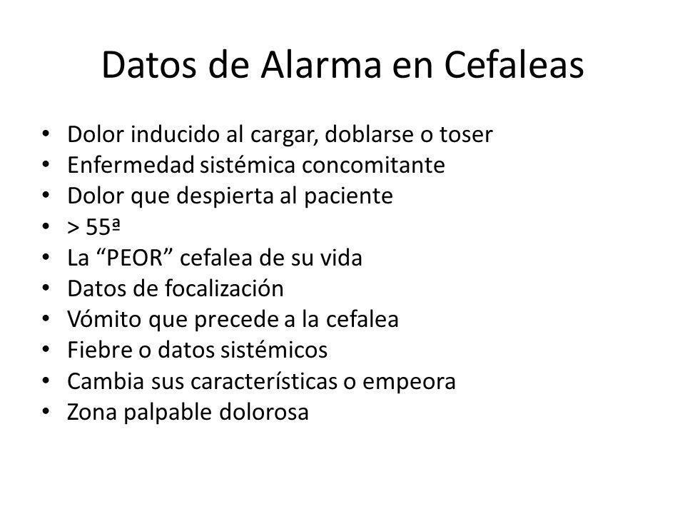 Datos de Alarma en Cefaleas