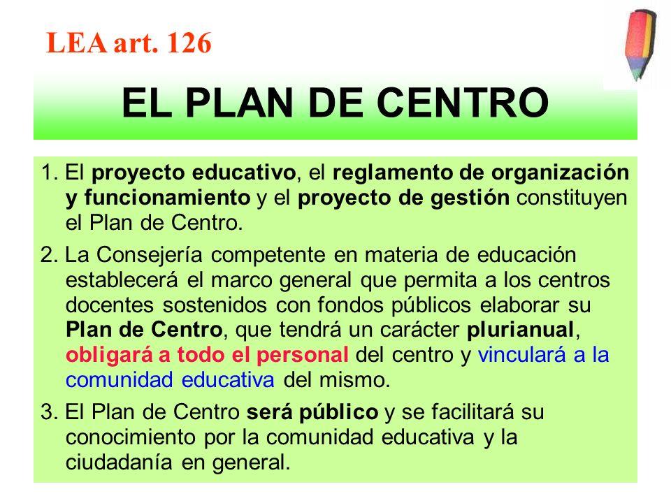 EL PLAN DE CENTRO LEA art. 126