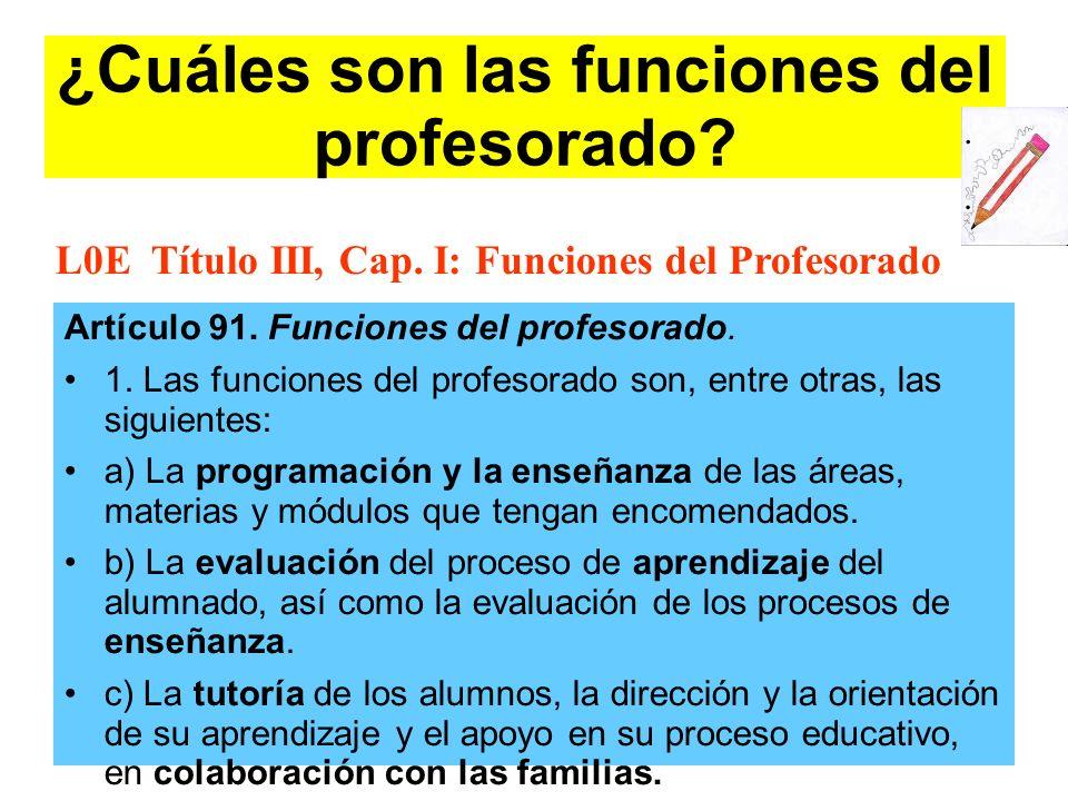 ¿Cuáles son las funciones del profesorado