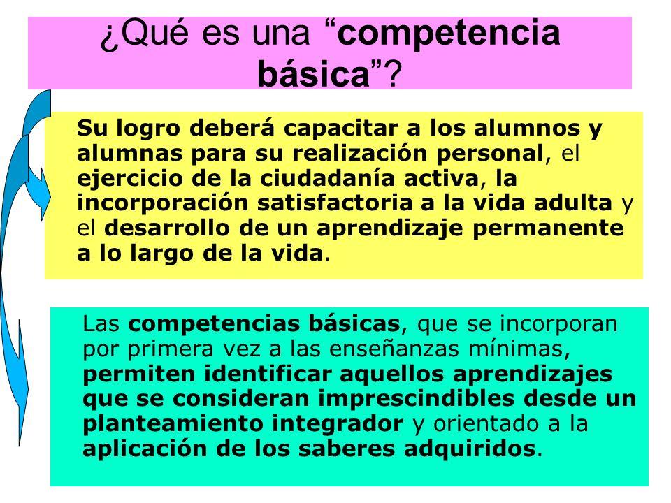 ¿Qué es una competencia básica