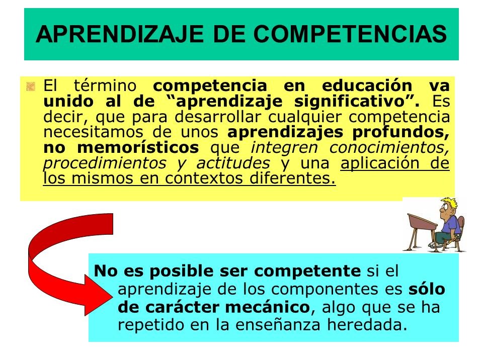 APRENDIZAJE DE COMPETENCIAS