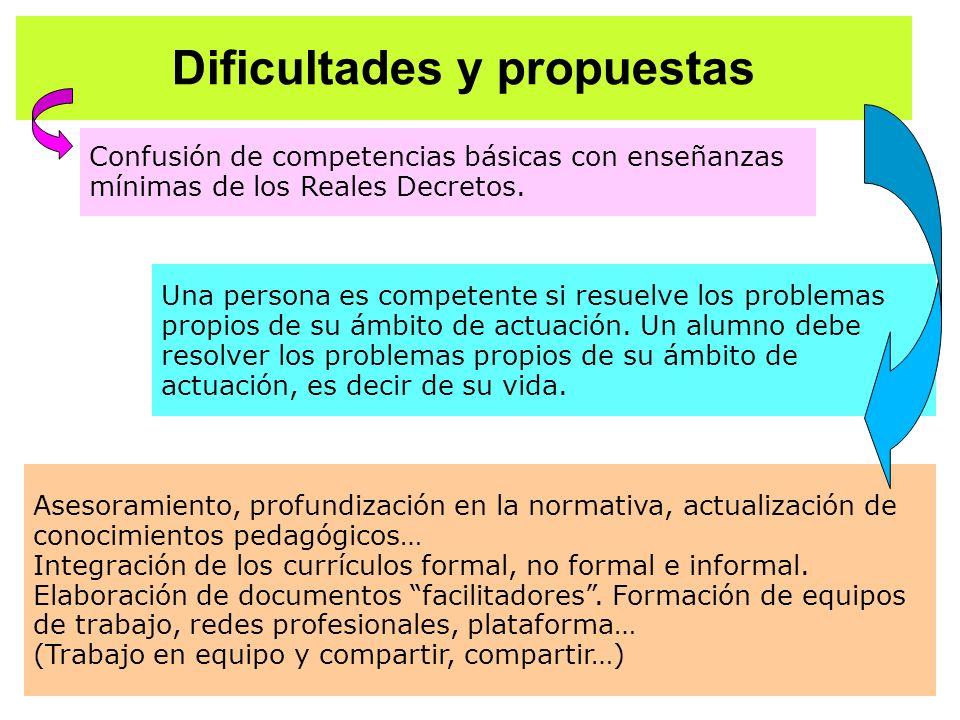 Dificultades y propuestas