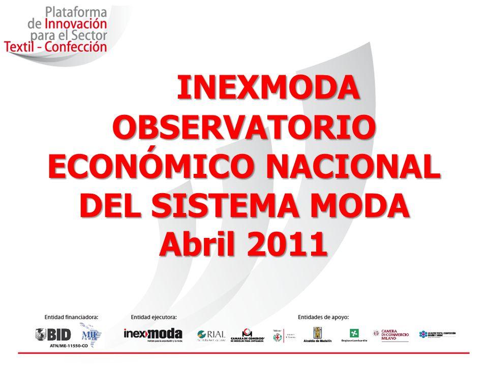 INEXMODA OBSERVATORIO ECONÓMICO NACIONAL DEL SISTEMA MODA Abril 2011