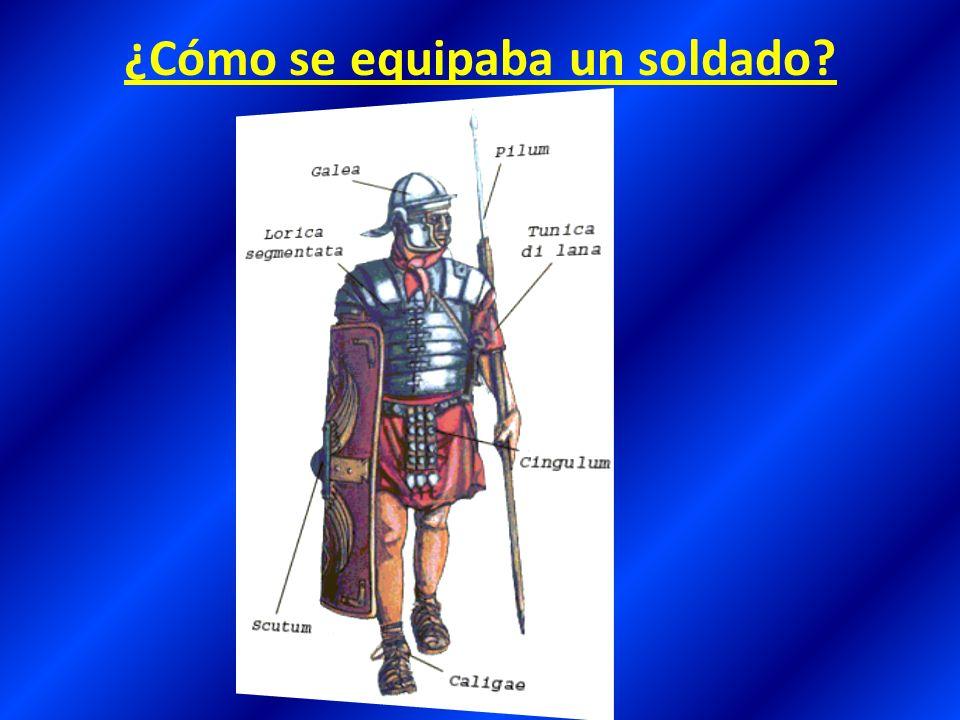 ¿Cómo se equipaba un soldado