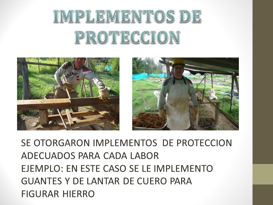 IMPLEMENTOS DE PROTECCION