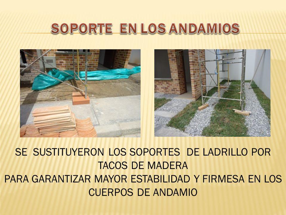 SOPORTE EN LOS ANDAMIOS
