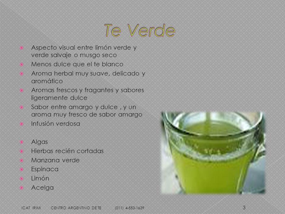 Te Verde Aspecto visual entre limón verde y verde salvaje o musgo seco