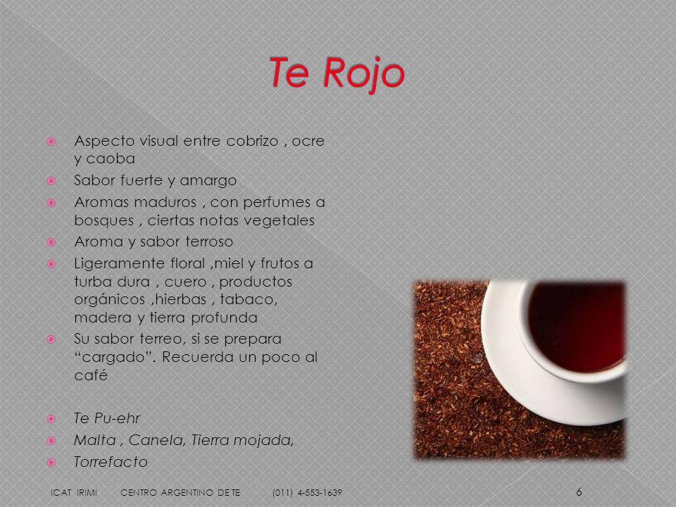 Te Rojo Aspecto visual entre cobrizo , ocre y caoba