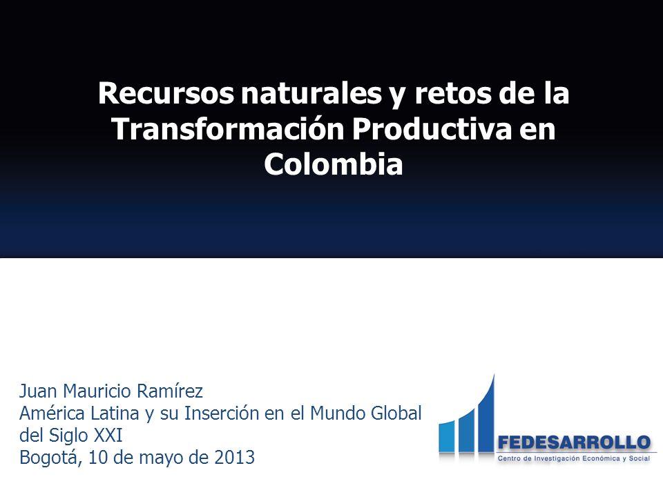 Recursos naturales y retos de la Transformación Productiva en Colombia
