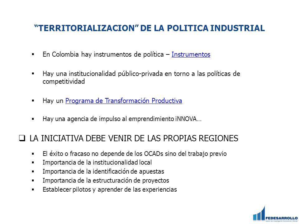 TERRITORIALIZACION DE LA POLITICA INDUSTRIAL