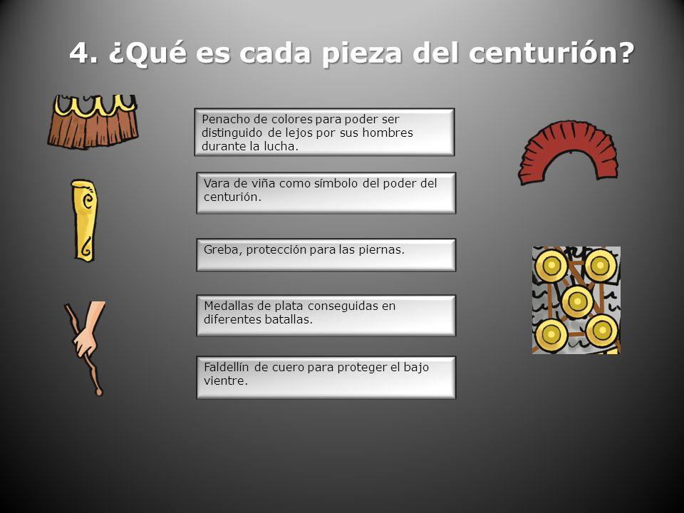 4. ¿Qué es cada pieza del centurión