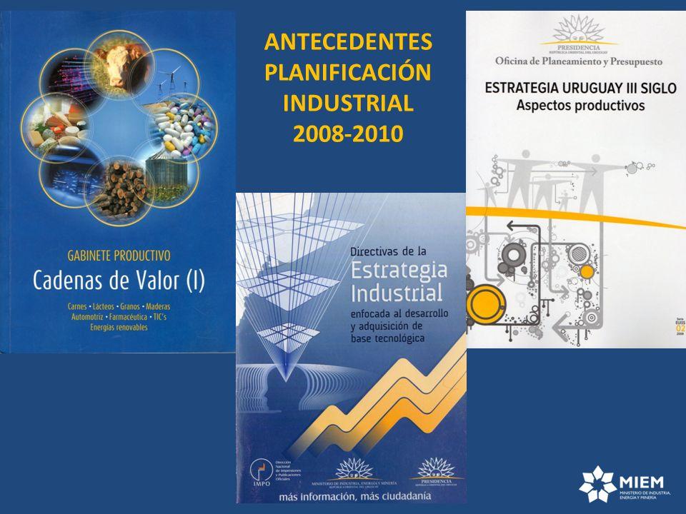 ANTECEDENTES PLANIFICACIÓN INDUSTRIAL 2008-2010