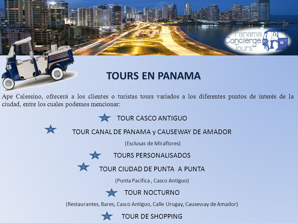 TOURS EN PANAMA TOUR CASCO ANTIGUO