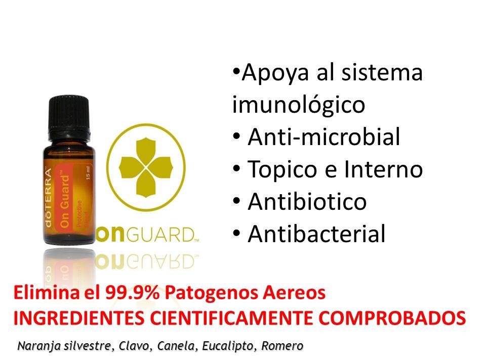 Apoya al sistema imunológico Anti-microbial Topico e Interno