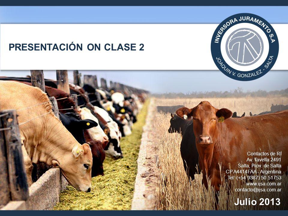 PRESENTACIÓN ON CLASE 2 Julio 2013 Contactos de RI