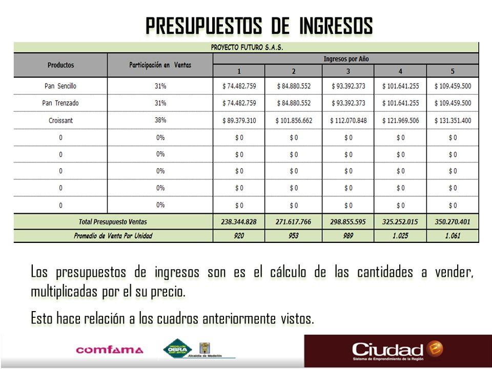 PRESUPUESTOS DE INGRESOS