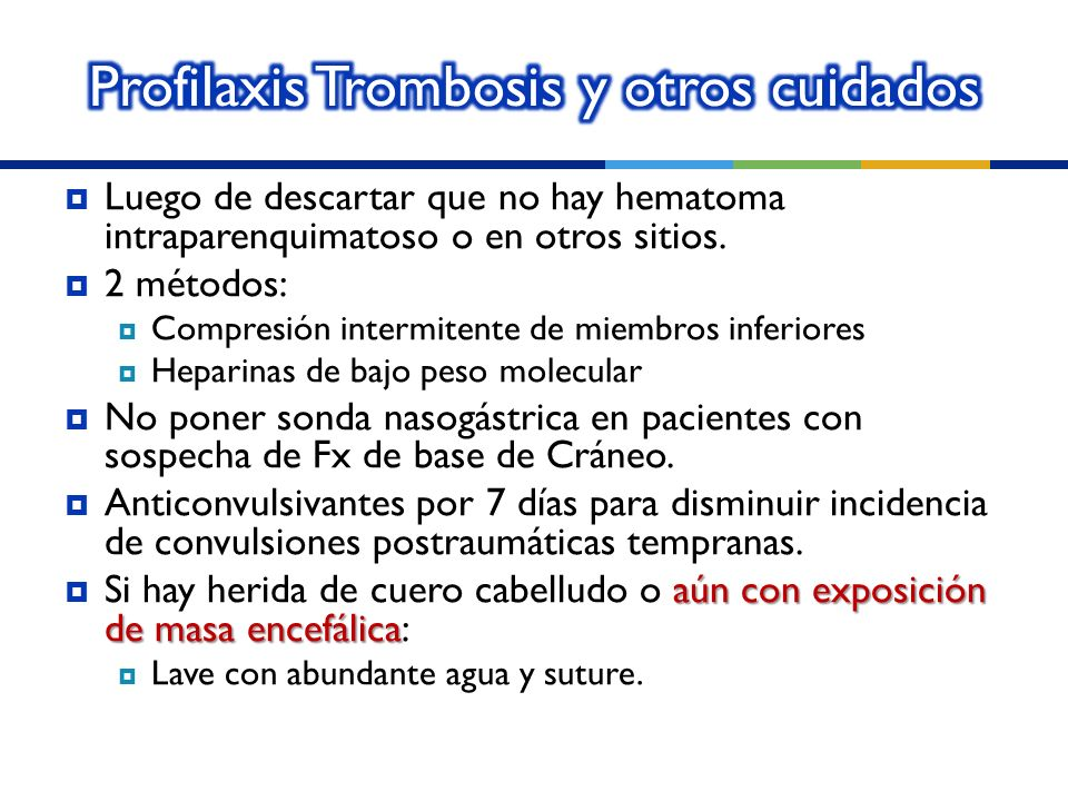 Profilaxis Trombosis y otros cuidados