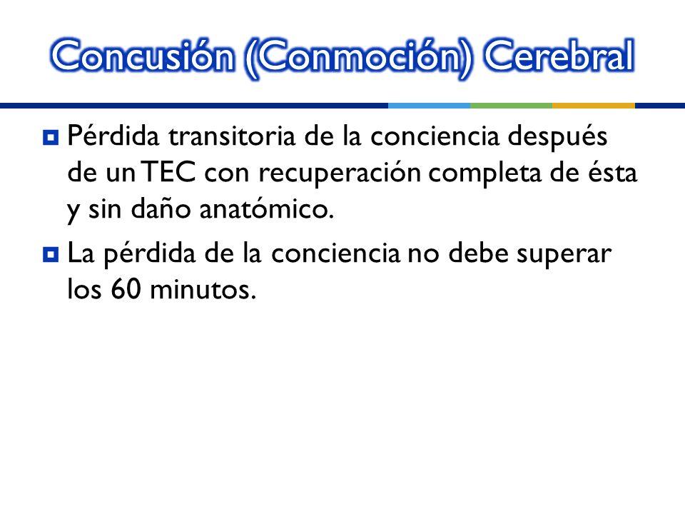 Concusión (Conmoción) Cerebral